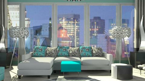 city view - Living room - by xpigeonx