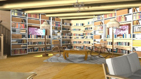 Antique Reading nook - Rustic - Living room  - by Kavish