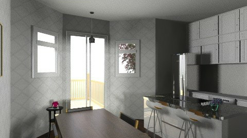 Remodel wit moved kitchen - Vintage - Living room  - by jgibney123