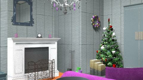 Christmas Living room - Glamour - Living room  - by laruue
