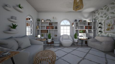 modern home library - Minimal - Living room  - by PeculiarLeah