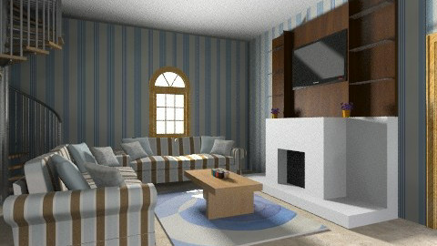 blueroom - Retro - Living room  - by AshiraLevana