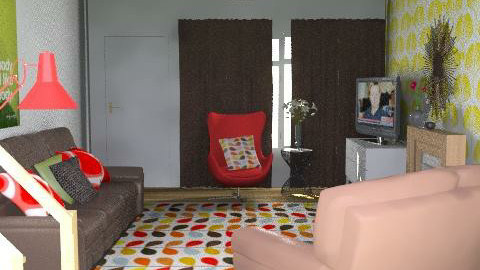 Poshni for roshni. - Retro - Living room  - by overtherainbow