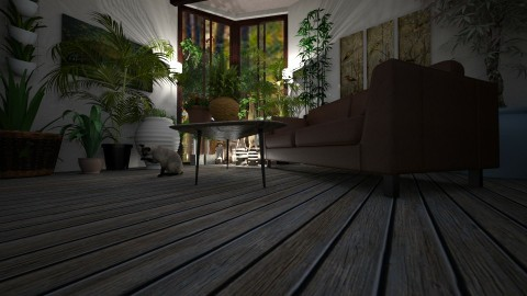 green loft - Retro - Living room  - by mackenzie3