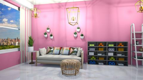 pink rose room - Glamour - Living room  - by aschaper