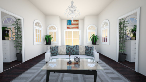 American Colonial - Vintage - Living room - by Rasheliz
