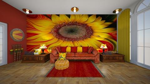 sunflower - Living room - by block44