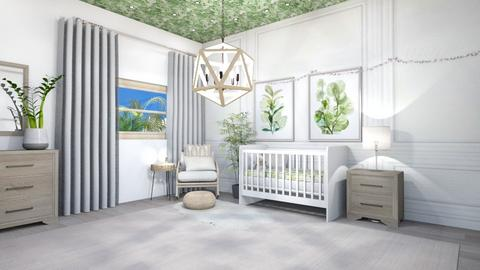 Neutral Nursery - Modern - Kids room  - by Lambogirl