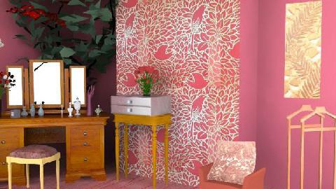 red room - Glamour - Bathroom  - by darkcourtier