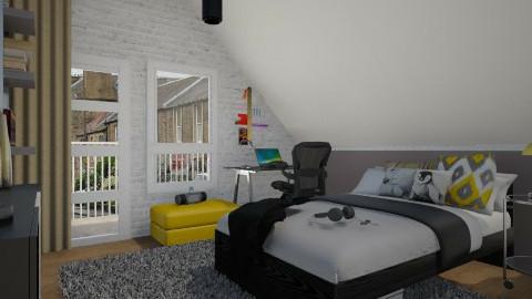 Teen bedr - Modern - Bedroom  - by Thrud45