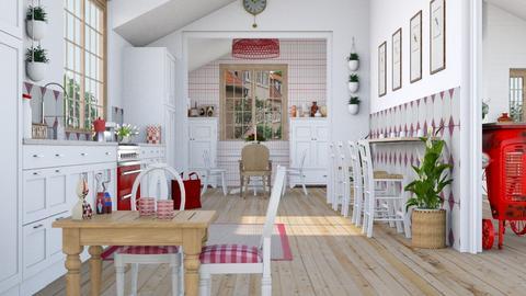 Pepita kitchen dining - Kitchen  - by Charipis home
