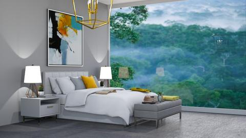 misty bedroom - Modern - Bedroom  - by madaline