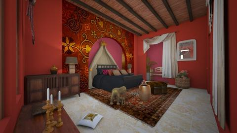 India Bedroom - by claudia secareanu
