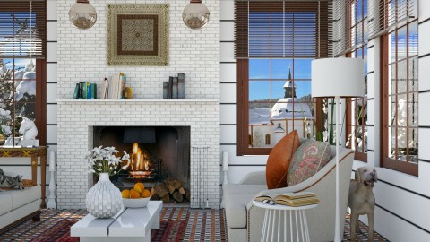 Design 246 White Slender Colorful - Living room  - by Daisy320