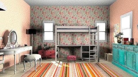 my - Retro - Bedroom  - by lubalu