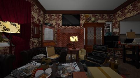 Messy Living Room - Living room  - by SammyJPili