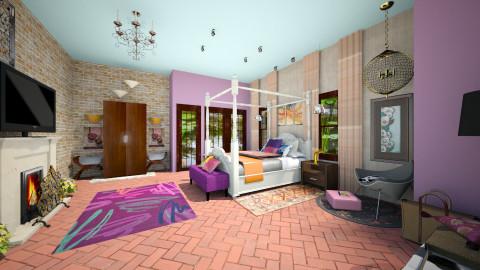 Main Bedroom Hacienda - Eclectic - Bedroom  - by valpal