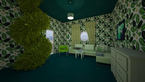 My green living room - Living room  - by Jessicaaaa
