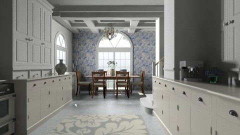 Blue Kitchen - Classic - Kitchen  - by PomBom