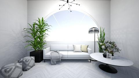 white living room - Glamour - Living room  - by Wensday