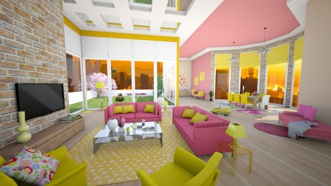 pinkyellow - Modern - Living room  - by Senia N