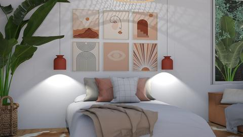 Scandi  - Minimal - Bedroom  - by NEVERQUITDESIGNIT
