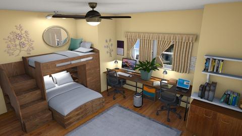 College Dorm - Bedroom  - by JoJo Y