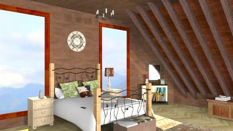 atico2 - Country - Bedroom  - by ATELOIV87