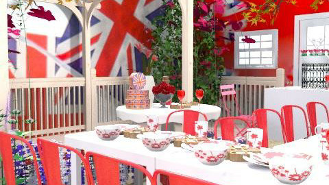 royal wedding garden party - Classic - Garden  - by auntiehelen