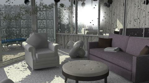 Winter Wonderland1 - Glamour - Living room  - by ruthiec1