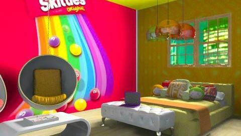 skittles - Retro - Bedroom  - by lala229