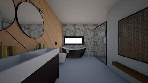 Orange n White - Bathroom  - by maya05