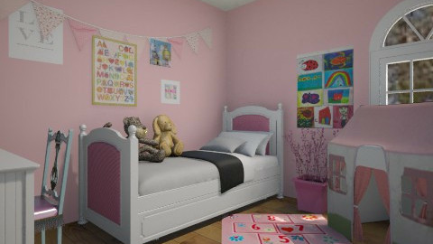 Girls Room - Kids room - by ElsaofDesign