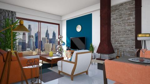 mid century - Eclectic - Living room  - by bibi_pat