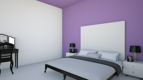 Purple and White - Modern - Bedroom - by a1is0n