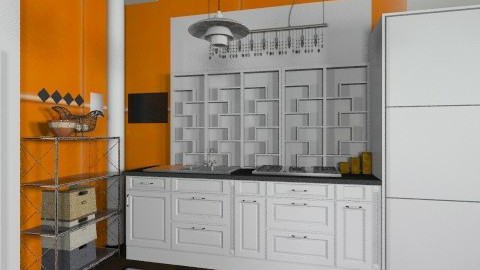 Color your world citchenD - Eclectic - Kitchen  - by Bandara Beliketimulla