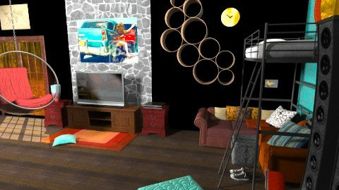 Teenager Bunker - Eclectic - Bedroom  - by rotheratti