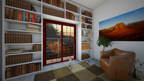 marron - Rustic - Living room  - by galimon