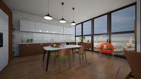 Mid Century Penthouse - Kitchen  - by ellieb2023