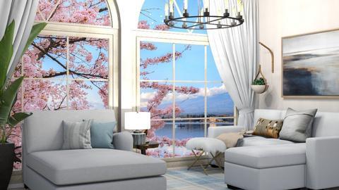 Big window_contest - Rustic - Living room  - by kiwimelon711