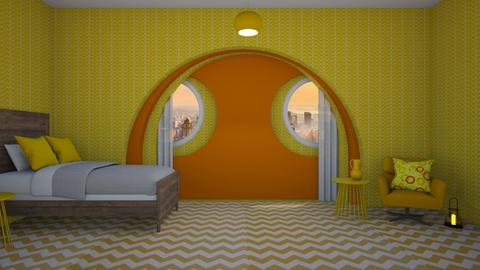 For the Love of Yellow - Bedroom  - by designcat31