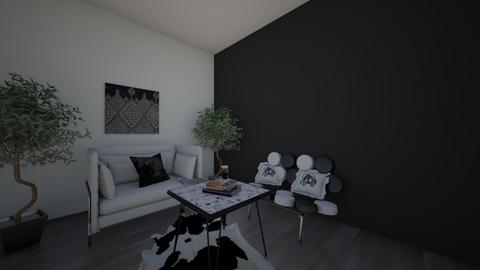 Black and white paradise - Modern - Living room  - by Loveislove