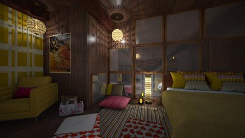 basement sleepover - by Celia Schrag