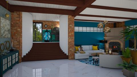 Curves staircase - Living room  - by Nicky West