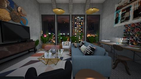 Artist Loft - Modern - Living room - by Kit Bramble
