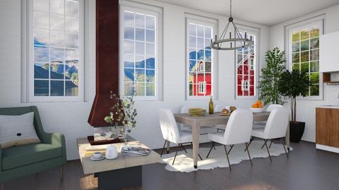 Scandinavian Dining Room - by lilyamc