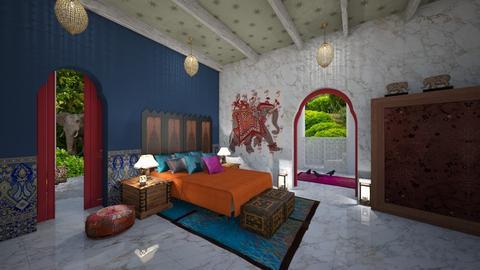 Matilda's indian colors bedroom - by Matilda de Dappere