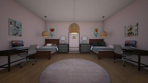 Twin girls bedroom - Bedroom  - by Sophia_Pavate_