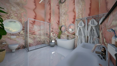Marble Bathroom - Modern - Bathroom  - by camilla_saurus