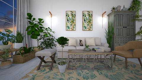 urban jungle livingroom - by Paper Flower